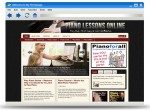 Piano Lessons Online Blog Theme Personal Use Template