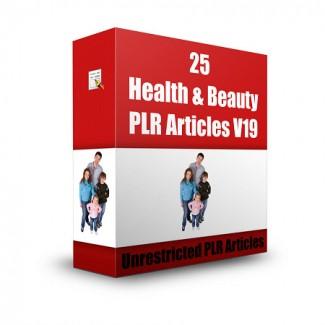 25 Health  Beauty V19 PLR Article