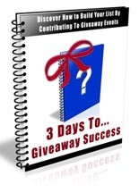 3 Days To Giveaway Success Resale Rights Autoresponder Messages