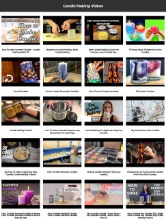 Candle Making Instant Mobile Video Site MRR Software