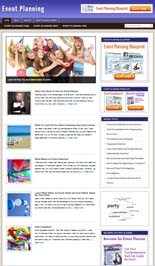 Event Planning Niche Blog Personal Use Template With Video