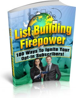 List Building Firepower PLR Ebook