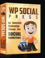 Wp Social Press Wp Theme MRR Template With Video