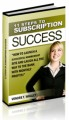 11 Steps To Subscription Success Mrr Ebook