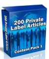 200 Plr Articles: Content Pack 1 PLR Article