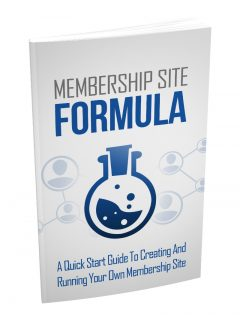 Membership Site Formula MRR Ebook