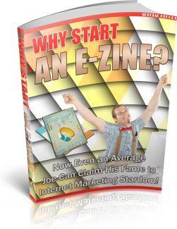 Why Start An Ezine PLR Ebook