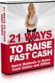 21 Ways To Raise Fast Cash Mrr Ebook