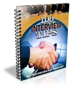 100 Interview Tips Give Away Rights Ebook