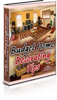 Budget Home Decorating Tips PLR Ebook